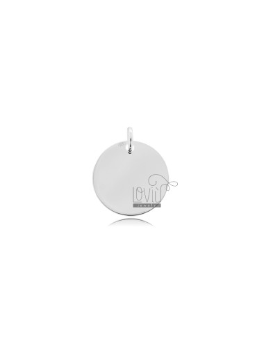 PENDANT ROUND DIAMETER MM 15 MM THICKNESS IN SILVER TIT 925