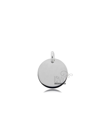 PENDANT ROUND DIAMETER MM 15 THICKNESS MM 1 SILVER RHODIUM TIT 925