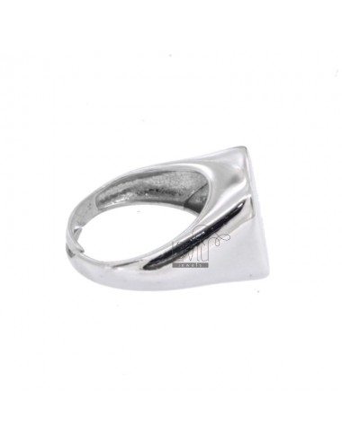 Square ring in silver...