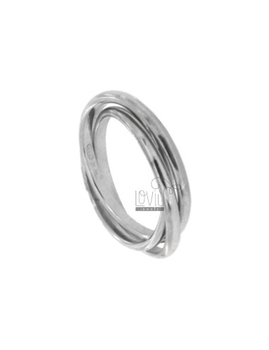 MULTIFILED RING TO 3 SILVER...