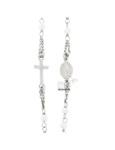 Collar rosario a giro cable...