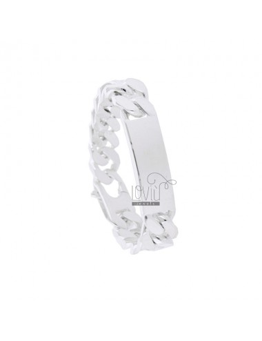 BRACELET SWEATER GRUMPET WITH 14x47 MM PLATE IN SILVER 925 ‰ WITH SPECIAL CLOSURE CM 24