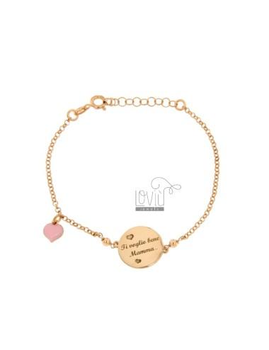 Rolo bracelet 'with round...