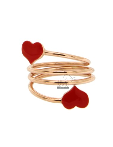 SERPENT RING WITH HEARTS...