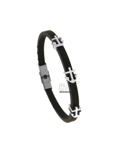 Bracelet in caucciu 'with 3...