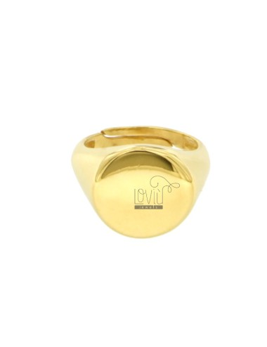 RING FROM MIGNOLO ROUND IN SILVER GOLDEN 925 ‰ SIZE ADJUSTABLE FROM 8