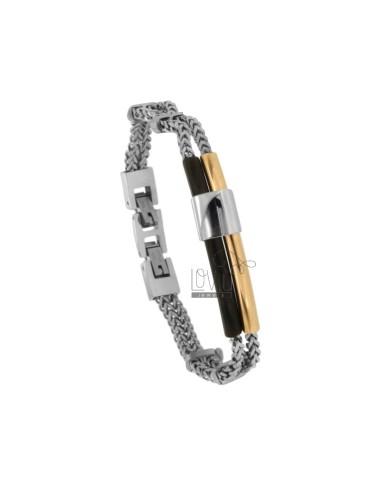 2-wire spiga bracelet with...