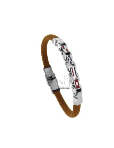 Bracelet round brown with 4...
