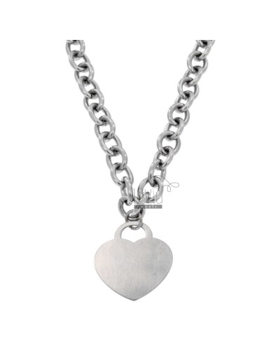 COMMANA STEEL CABLE WITH HEART WITH PENDANT PENDANT CM 45