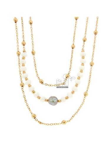 Necklace cm 85 and bracelet...