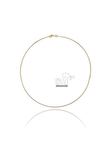 Rigid round necklace 15 mm...