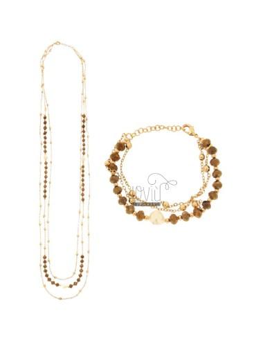 Halskette CM 85 und Armband...