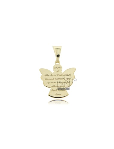 PENDANT ANGEL ECO WITH PRAYER 17x16 MM SILVER GOLDEN TIT 925