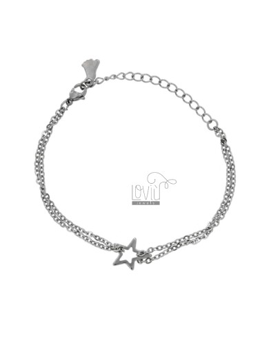 Steel bracelet with star cm...