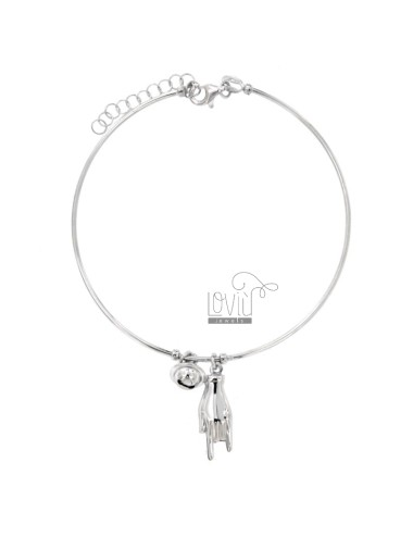 Rigid wire bracelet with...