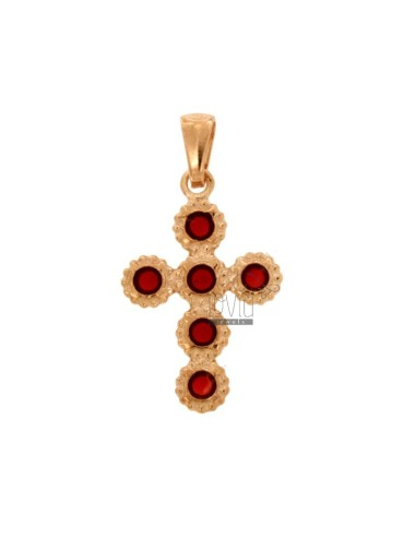 PENDANT CROSS 6 ROUND 27x18...