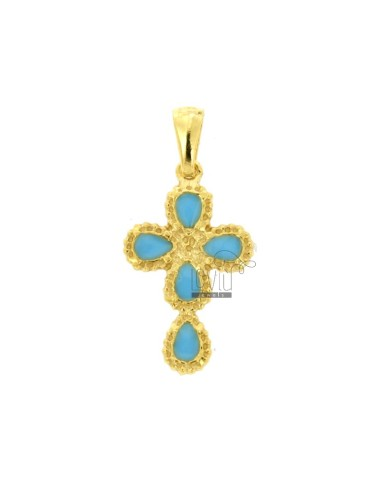 PENDANT CROSS 5 DROPS MM...