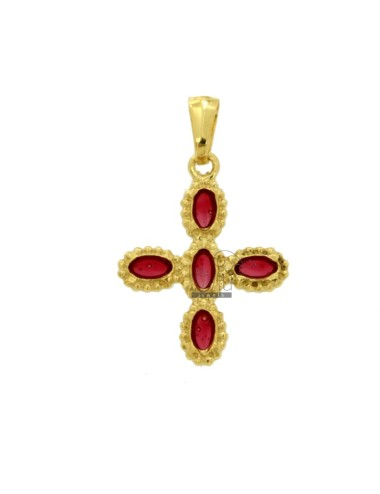 PENDANT CROSS 5 OVALS 26x21...