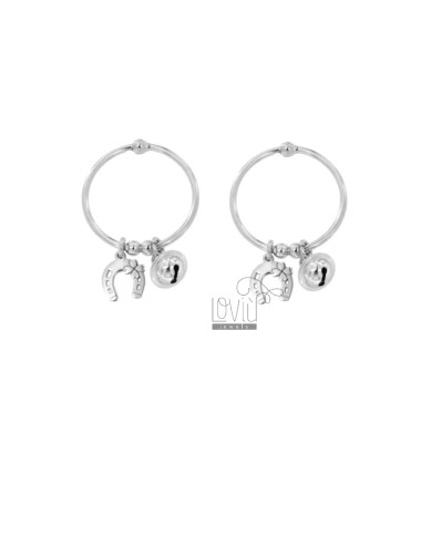 Earrings front circle with...