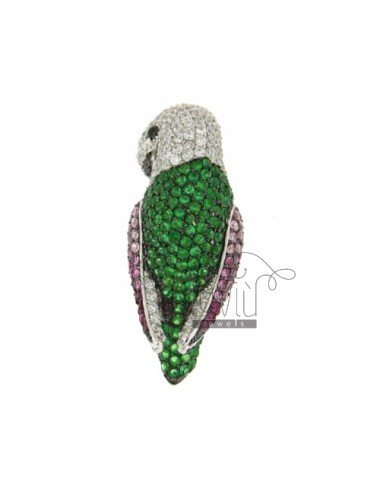 PARROT IN RING RHODIUM AG...