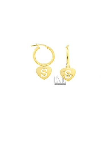Earrings a circle diameter...