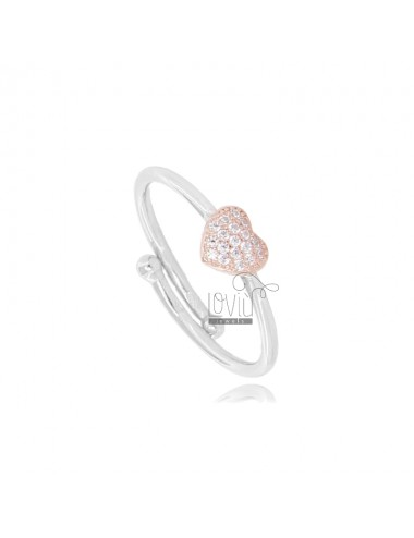 RHODIUM-PLATED RING WITH...