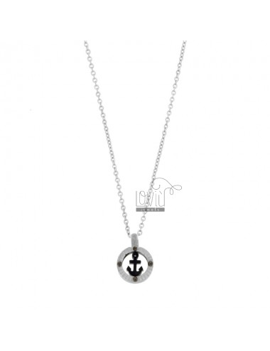 CHAIN \u200b\u200bCABLE WITH STILL PENDANT 12 MM IN STEEL TWO-TONE