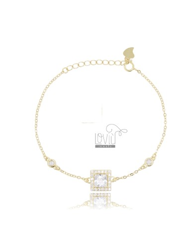 CABLE BRACELET WITH SQUARE...