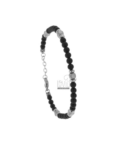 Bracelet in stone 4 mm and...