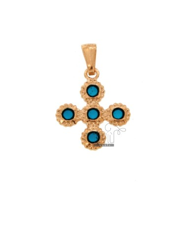 PENDANT CROSS 5 ROUND 22x18...