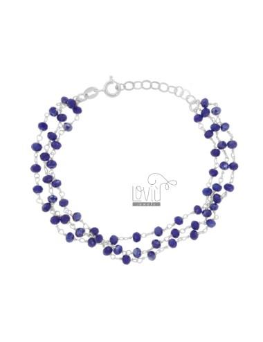 3-wire bracelet with blue...