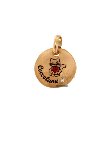 PENDANT 18 MM ROUND KITTEN...