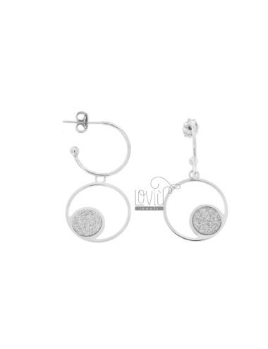 Earrings a circle 15 mm...
