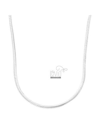 Snake necklace 3 mm base...