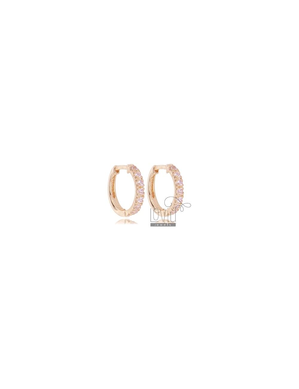 M571 22 mm 10 orecchini a cerchio in acciaio inox