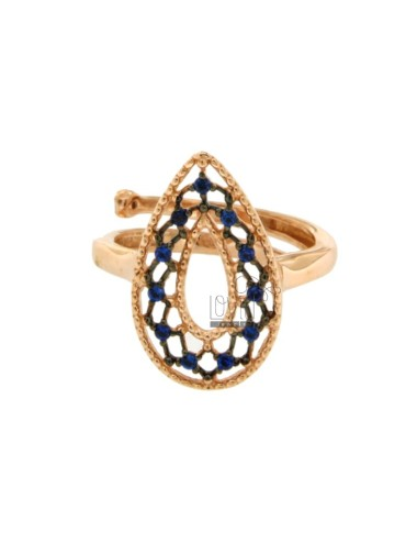 RING WITH DROP EFFECT LACE...