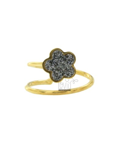 SNAKE RING WITH FLOWER IN...