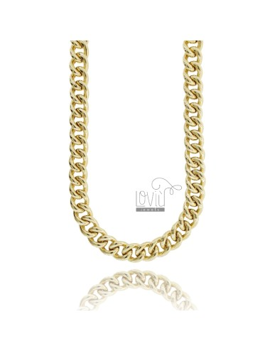 NECKLACE NECKED GROOMETTE EMPTY MM 13 SILVER GOLDEN TIT 925 CM 45-50