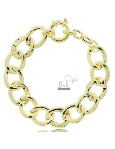 Oval knitted bracelet 18 mm...
