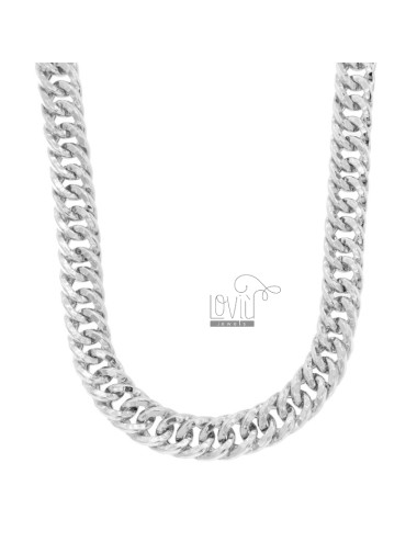 NECKLACE NECKLACE VEGET GROWER CANE SQUARE 12 MM IN SILVER RHODIUM TIT 925 CM 45-50