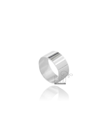 ENGLISH RING 10 MM IN SILVER TIT 925 ‰ MEASURE 25