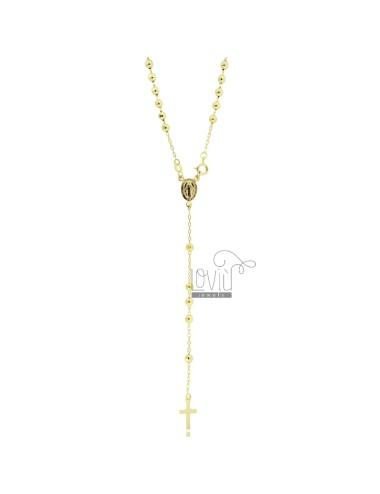 Collar rosario cable con...