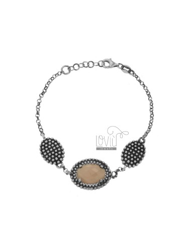 Rolo bracelet with 3 ovals...