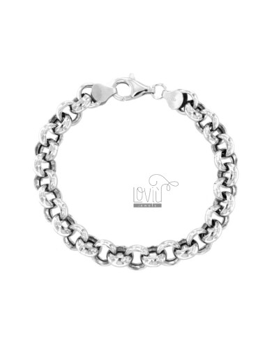 ROLO BRACELET 'WITH EMPTY JERSEY MM 3X8 SILVER RHODIUM TIT 925 ‰ CM 20