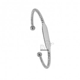 RIGID STEEL BRACELET DIAMOND WITH PLATE