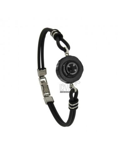 Black caucciu 'bracelet...