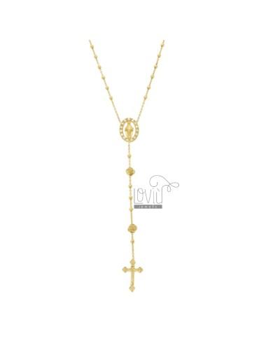 Rosary-halskette mit rosen...