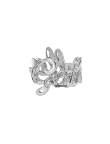 CUSTOM RING WITH LETTERS IN...