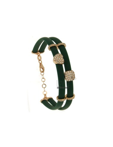 Bracelet in caucciu 'green...