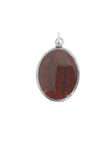 PENDANT OVAL MADONNA OF...